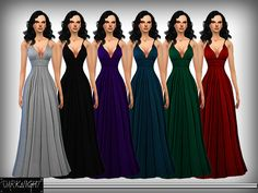 Silk Evening Gown from Fall 15. Found in TSR Category 'Sims 4 Female Formal'