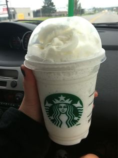 Starbucks vanilla bean frappuccino <3.My favorite drink!<3 ~ That looks yummy!  I'll have to try it.  I love vanilla bean coffee (in fact, I'm drinking some at the moment), so I'm sure I'll love this!  :) <3 <3