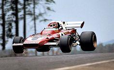 1971 Clay Regazzoni getting some air in his F1 car
