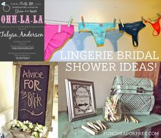 Lingerie Bridal Shower ideas - throw the complete shower for a few dollars, from FunCheapOrFree.com