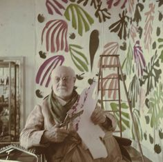 MoMA | Henri Matisse: Matisse at the Hôtel Régina, Nice, with The Parakeet and the Mermaid, c. 1952