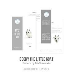 Becky the little goat amigurumi pattern - Amigurumipatterns.net