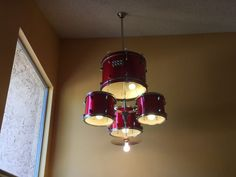 Drum Set Chandelier: 6 steps (with pictures) - bathroom decoration Cool Chandeliers, Diy Chandelier, Music Furniture, Diy Drums, Drum Room, Lamp Shades, Decoration, Light Fixtures, Instruments