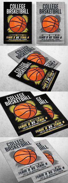 Basketball PSD Flyer Template Basketball Flyer Templates - basketball flyer example