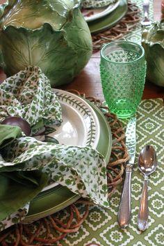 Gorgeous Spring Green Tablescape | la bella vita cucina