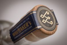 Whittakers Gin small batch London Dry handcrafted by Toby and Jane Whittaker designed by dare! and proudly printed by Multi-Color Daventry.