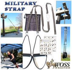 WOSS Military Strap Trainer, Gunmetal Gray, with Built-In Door Anchor. Made in USA Sling Trainer: Amazon.co.uk: Sports & Outdoors