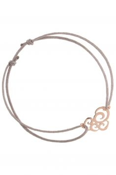 hearts I #grey lace bracelet with rose gold plated element I designed by iris y. for NEW ONE I NEWONE-SHOP.COM