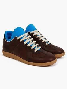 Maison Martin Margiela 22 Men's Brown Replica Scuba Sneakers | oki-ni