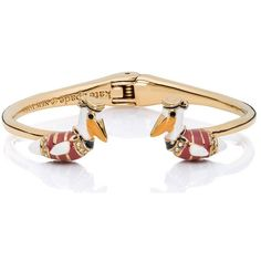 Kate Spade Taking Flight Pelican Open Hinge Bangle (780 EGP) ❤ liked on Polyvore featuring jewelry, bracelets, charm jewelry, bangle charms, kate spade, bracelets bangle and tri color bangles