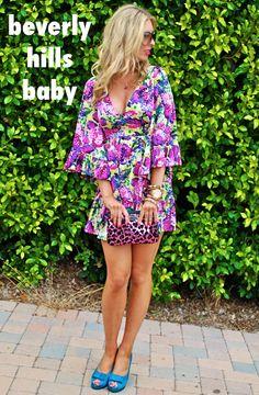 Beverly Hills Baby via Blonder Ambitions {www.blonderambitions.com}. fashion. style. betsey johnson dress. girly. feminine. summer. pink dress.