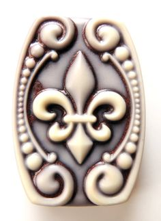 FLEUR DE LIS Soap  Cream and Copper  Scented in by thecharmingfrog, $6.00
