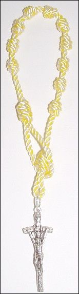 1 decade rosary chaplet made from #36 Papal Commemorative Twine available at http://divinetwine.blogspot.com/