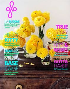 floral arrangements - May 2013 Magazine Covers, Floral Arrangements, Shower Ideas, Centerpieces, Bloom, How To Apply, Kitty, Baby Shower, Entertaining