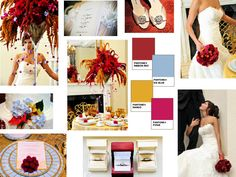 SALSA SUMMER : PANTONE WEDDING Styleboard : The Dessy Group