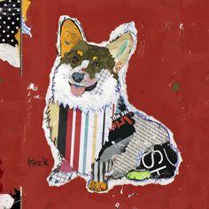 Dog Art of Pembroke Welsh Corgi on Canvas Print