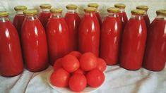 Suc de roșii făcut în casă pentru iarnă! - Retete-Usoare.eu Hot Sauce Bottles, Cooking Recipes, Keto, Stuffed Peppers, Vegetables, Breakfast, Food, Homestead, Winter