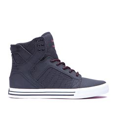 SUPRA Footwear™ | Official Store | SKYTOP | BLACK / RED - WHITE
