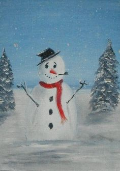 Frosty  Original Oil Painting 7 x5