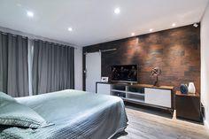 Ecobrick Mercure - Foto: Favaro Junior          #quarto #quartos #aconchego #room #bedroom #habitácion #castelatto #castelato #castellato #revestimento #design #arquitetura #parede #decor #decoração #sofisticacao #wall #piso #textura #inovacao #floor