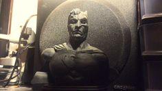 Batman vs. Superman sculpt bust