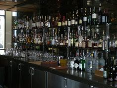 Bar Shelves with Glass and Stainless Steel