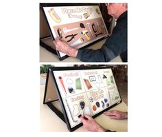 It is a difficult thing to do - to engage men in an activity on Memory Care Floors of Long Term Care Facilities.  This double-sided magnet board allows for two person play.  Folds for storage. Sold on website http://www.creativeartco.com