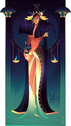 Nephthys - Egyptian Gods and Goddesses, Yliade Illustrations Egyptian Mythology, Egyptian Goddess, Goddess Art, Egyptian Art, Egyptian Costume, Egyptian Jewelry, Anime Egyptian, Bastet Goddess, Isis Goddess