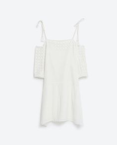 Image 8 of OFF-THE-SHOULDER EMBROIDERED DRESS from Zara