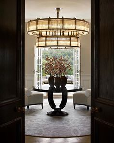 Do not wait until you get the best inspiration for the lighting in the entrance area! Find it with Luxxu at … - Modern Chandeliers Lobby Interior, Luxury Interior, Interior Architecture, Interior Design, Interior Ideas, Luxury Apartments, Luxury Homes, Entryway Light Fixtures, Entrance Lighting