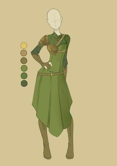 female dwarfish outfit