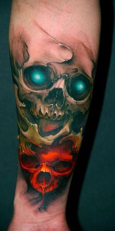 Skull Tattoos 77 - 80 Frightening and Meaningful Skull Tattoos <3