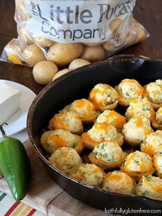Potato Poppers are like jalapeno poppers, but with potatoes! Great for game day or cookouts. Make them ahead, reheat when you need them.