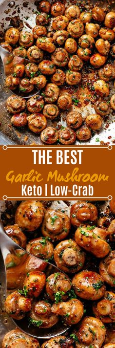 Skillet singed Garlic Mushrooms are a staple side in any café, bistro, bar or steakhouse, and an immense most loved in homes everywhere t. Quick Side Dishes, Vegetable Side Dishes, Low Carb Diet Plan, Low Carb Keto, Garlic Mushrooms, Stuffed Mushrooms, Carb Free Snacks, Mushroom Side Dishes, Slow Cooker Italian Beef