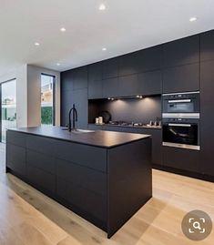 Modern Kitchen Interiors, Luxury Kitchen Design, Kitchen Room Design, Modern Kitchen Cabinets, Contemporary Kitchen Design, Kitchen Cabinet Design, Home Decor Kitchen, Home Kitchens, Open Plan Kitchen Living Room