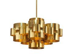 Italian brass pendent light