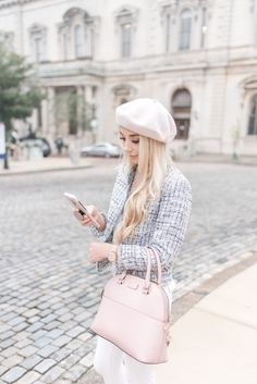 Parisian-Inspired Office Wear — Anna Elizabeth - How I changed my mindset around getting dressed in the morning for work You are in the right place a - Girly Girl Outfits, Preppy Outfits, Winter Fashion Outfits, Fall Winter Outfits, Classy Outfits, Spring Outfits, Cute Outfits, Pastel Outfit Spring, Estilo Casual Chic