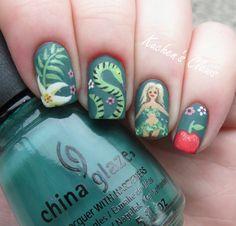 paradise manicure nail art