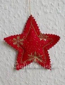 Fabric Star Christmas Tree Ornament
