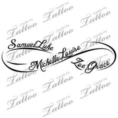 I FINALLY found the ink I want on my foot with my babies' names!!! SO EXCITED!!! This is the one I want but with my own touch