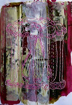 embroidery on paint-  Marta Brysha
