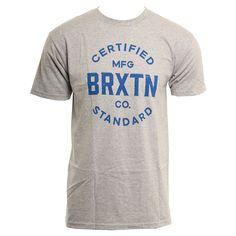Brixton Mens Shirt Cane Heather Grey Royal