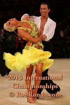 vesa dance dresses - Google Search Latin Ballroom Dresses, Latin Dance Dresses, Ballroom Dancing, Baile Latino, Competition Time, Square Dance, Dance Pictures, Just Dance, Yellow Dress
