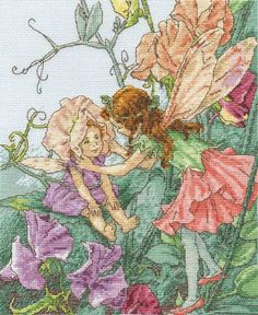 Sweet Peas Cross Stitch