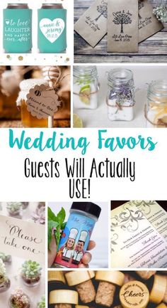 Such creative wedding favors! Guests would love these - I wish I had thought of these for my wedding!