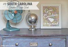 DIY South Carolina Map Art