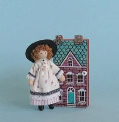 Miniature 1/4 and 1 scales doll and dollhouse by PamelaJunksMinis, $28.00