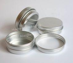 50x30 جرام الألومنيوم جرة ، 30 جرام المعدنية كريم جرة ، 1 أوقية فضة الألومنيوم والقصدير 30 جرام المعادن التجميل الحاويات