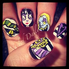 Beetlejuice - Nail Art Gallery by NAILS Magazine