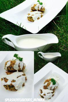 Broccoli And Corn Patties in White Sauce  Super Healthy Kids Friendly Recipe